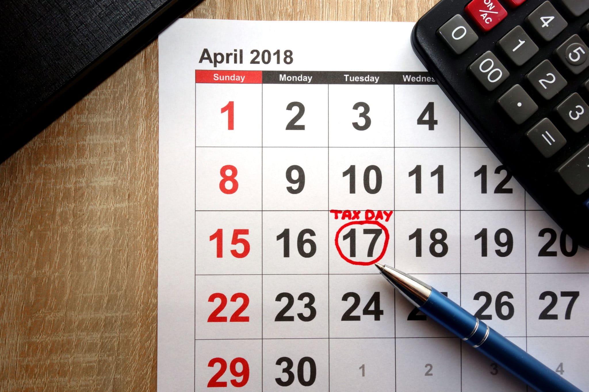 Final Regulations Update 2018 Tax Filing Due Dates Thompson
