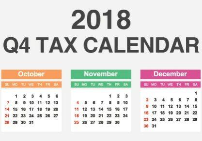 Q4 Tax Calendar